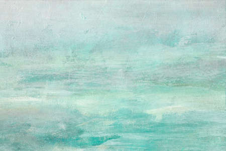 Aquamarine abstract painting background grunge texture