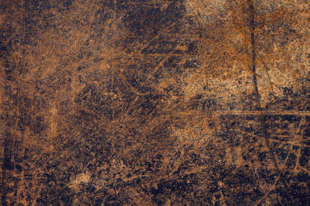 Old rusted metal sheet grungy background or texture Standard-Bild