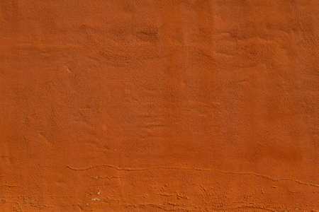 Terracotta color plastered wall texture