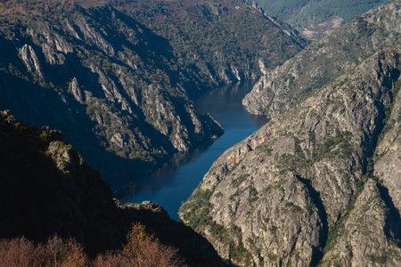 Sil river Canyon in Ribeira Sacra, Galicia, Spain Standard-Bild