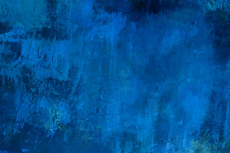 Cobalt blue painting backdrop grunge background or texture