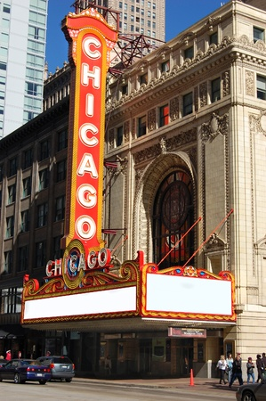 theater sign: Teatro de Chicago firmar durante el d�a