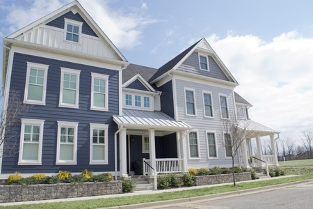 Blue Cape Cod Style Townhomes Stock Photo - 13559021