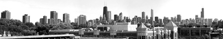 Chicago Black and White Panoramic photo