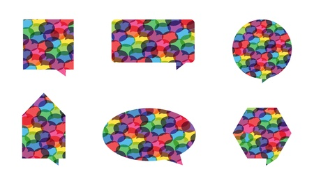 conversing: Vector Colorful Speech Bubbles Illustration
