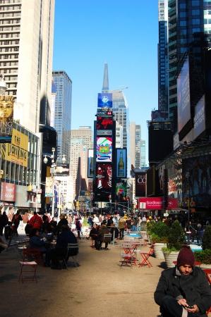ニューヨーク市のタイムズスクエア 報道画像