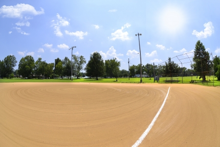 Baseball Field in the Summertime photo