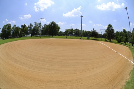 Baseball Field Fisheye Stock Photo - 14630359