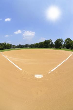 Home Plate on a Baseball Field photo