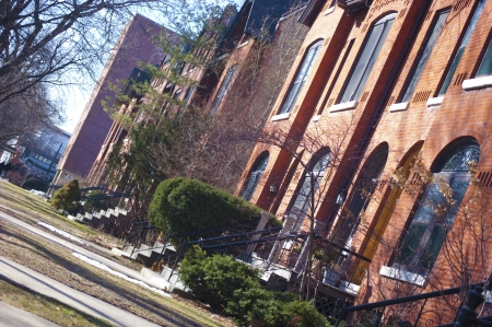 Chicago Brownstone Houses in Lincoln Park Banque d'images