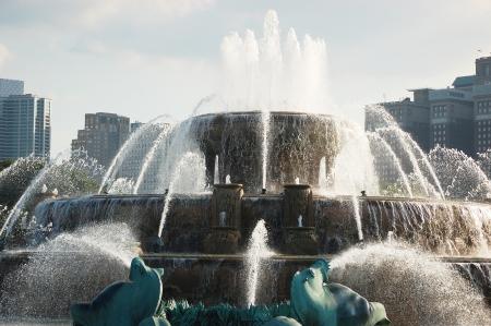 Buckingham Fountain in Chicagos Grant Park photo