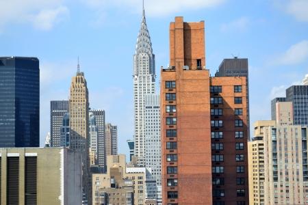 日中はニューヨーク市のスカイライン 写真素材