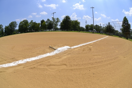 Fisheye of Baseball Field During Spring Stock Photo - 14630380