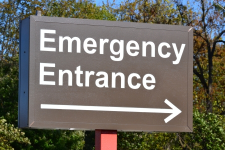 Emergency Entrance Sign at Hospital photo