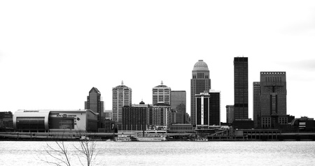 Louisville, Kentucky Black and White Фото со стока