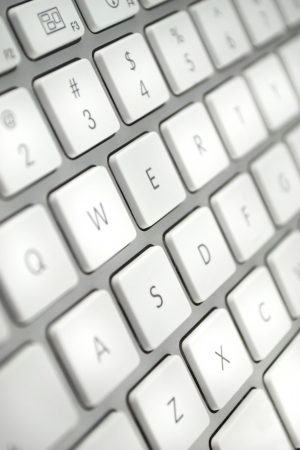 White and Silver Keyboard Detail