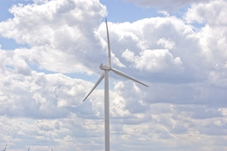 energize: Windmill on Wind Farm