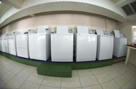 timeshare: Washing Machines in a Laundry Room