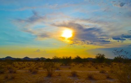 Sunset over the Arizona Desert