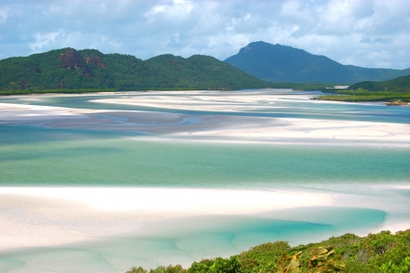 Whitehaven Beach in the Whitsunday Islands in Queensland, Australia photo