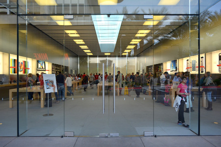 Apple Store at The Scottsdale Quarter in Scottsdale, Arizona USA