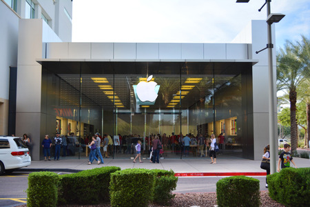Apple Store at The Scottsdale Quarter in Scottsdale, Arizona USA