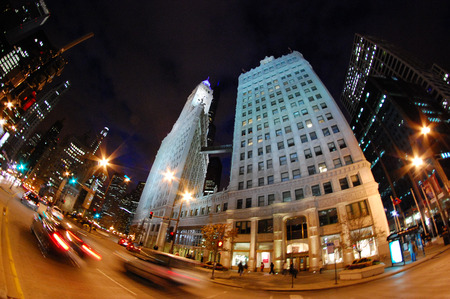 michigan avenue: Chicago, Illinois USA - The Wrigley Building on Michigan Avenue