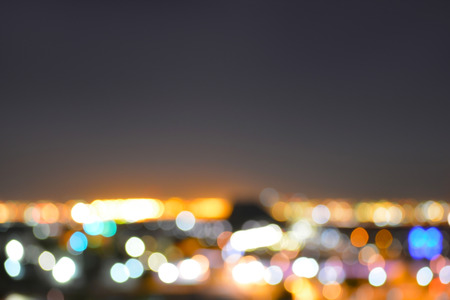 Abstract City Lights Blur Background Banque d'images