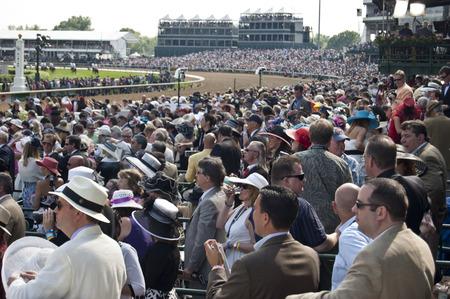 grandstand: Kentucky Derby - Churchill Downs, Louisville, KY USA Editorial
