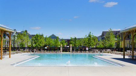 Community Pool in a Brand New Suburban Neighborhood
