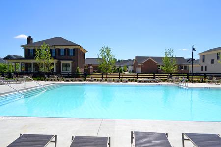 community garden: Community Pool in a Brand New Suburban Neighborhood