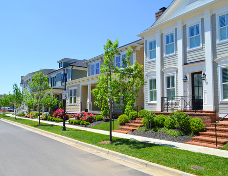 Beautiful, New Suburban Neighborhood in the Summertime