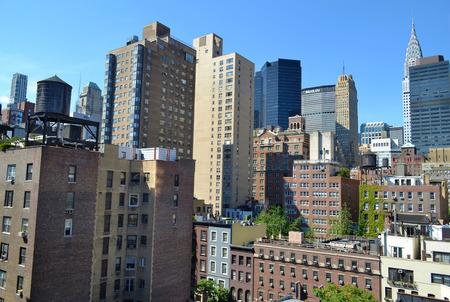 heralds: Buildings on the Manhattan Skyline Stock Photo