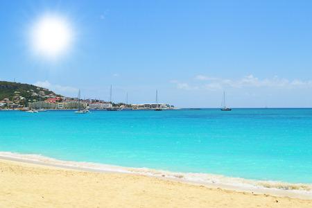 simpson: Sunny Day on a Caribbean Island Beach