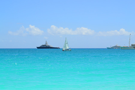 Beautiful Caribbean Beach with White Sand and Turquoise Water