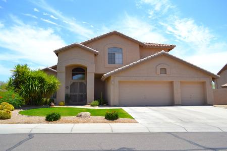 suburban neighborhood: Brand New Luxury Southwestern Style Arizona Home Editorial