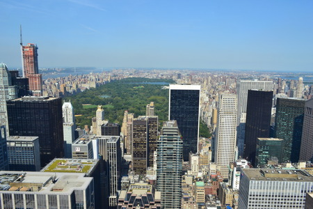 heralds: Aerial View of New York City s Central Park in the Summertime Editorial