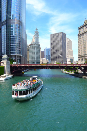 Chicago River Boat Cruise During the Summertime