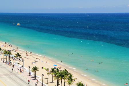 フォート ローダーデール ビーチ - フォートローダーデール、フロリダ アメリカのトップ ビュー