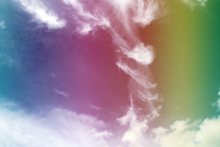 cirrus: Rainbow, Abstract Cirrus Clouds Background Texture