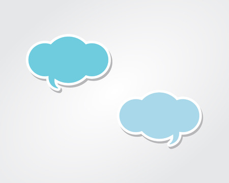 3D Conversation Speech Bubble Clouds