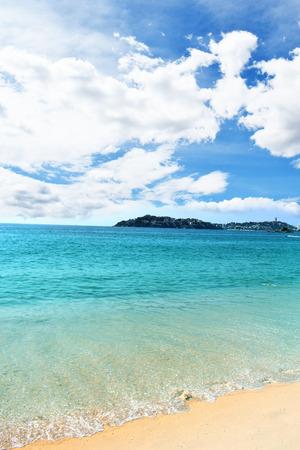Blue Beach and Blue Sky 版權商用圖片