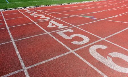 Athletic Running Track 版權商用圖片