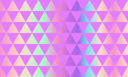 Triangles Pattern, Holographic Texture