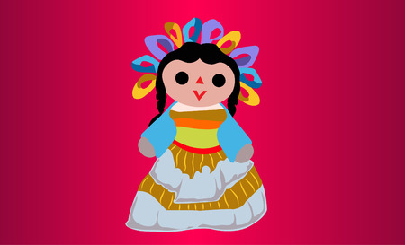 Mexican Doll Stock Illustratie