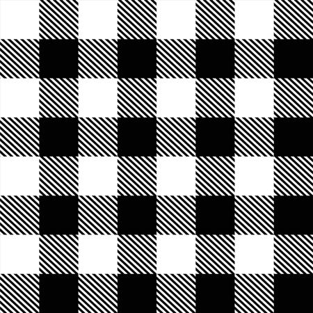 Tartan, Squares Black and White Color 向量圖像