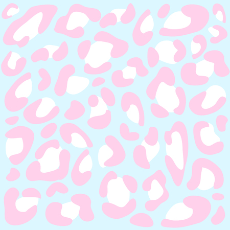 Animal print in blue, pink and white colors. 向量圖像