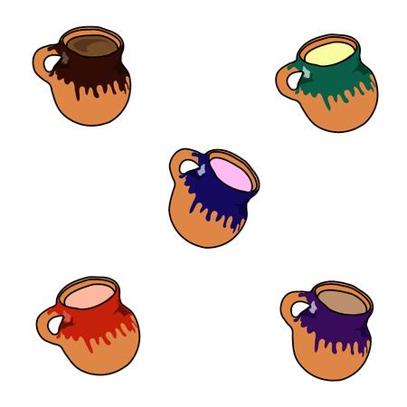 Mexican Mugs, Handmade, Vector Illustration 向量圖像