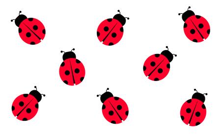 Lady Bug, ilustración vectorial, fondo
