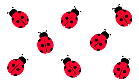 Lady Bug, Vector Illustration, Background